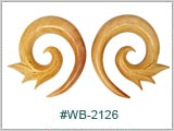WB2126, Natural Blonde Wood Spirals