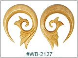 WB2127, Natural Blonde Wood Spirals