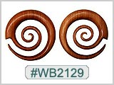 Wood Spirals for Ear Piercing