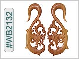 WB2132 Carved Wood Ear Style