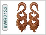 WB2133 Carved Wood Ear Style