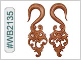 WB2135 Carved Wood Ear Style