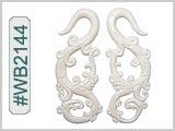 WB2144 Carved Bone Ear Style