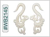 WB2145 Carved Bone Ear Style