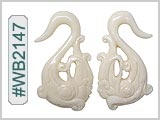 WB2147 Carved Bone Ear Style