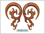 WB2164 Carved Filigree Sabo Wood Ear Style