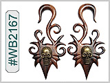WB2167 Skull Ear Designs
