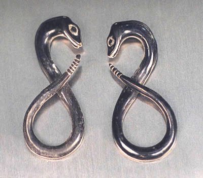 WB2701 Horn Ear Snake Design Pair MAIN