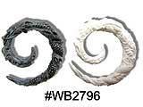 "WB2796 ""Faux"" Carved Dragon Ear Spiral"