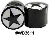 WB3611 Horn and Bone with Star Inlay