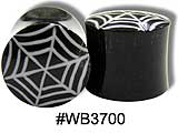 WB3700 Horn with Bone Spider Web Inlay plugs