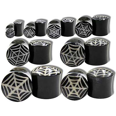 WB3700 Horn with Bone Spider Web Inlay plugs MAIN