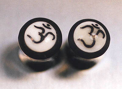 WB3801 Horn with Bone Ohm Inlay Plugs Pairs