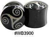 WB3900 Horn with Bone Celtic Swirls inlay
