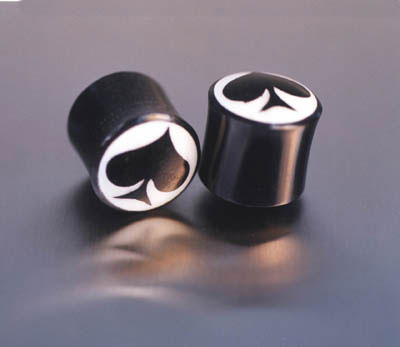 WB4031 Horn with Bone Inlay Spades Plug Pairs MAIN