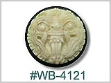 WB4121 Carved Bone Horn Plug THUMBNAIL
