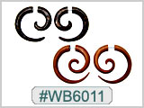 WB6011 Wood and Horn Ear Gauges for 14G Hole Earrings