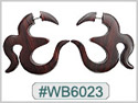 #WB6023 -  Wooden Tribal Earring
