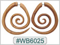 #WB6025 -  Wooden Tribal Earring