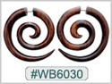 #WB6030 - Wooden Tribal Earring