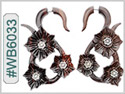 #WB6033 -  Wooden Tribal Earring