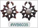 #WB6035 -  Wooden Tribal Earring