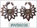 #WB6036 -  Wooden Tribal Earring