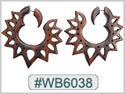 #WB6038 - Mayan Wooden Tribal Earring