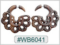 #WB6041 -  Narra Wood Tribal Earring