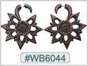 #WB6044 -  Narra Wood Tribal Earring THUMBNAIL