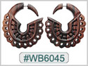 #WB6045 - Narra Wood Tribal Earring