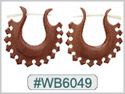 #WB6049 -  Wooden Tribal Earring THUMBNAIL
