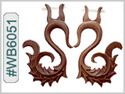 #WB6051 - Wooden Tribal Earring