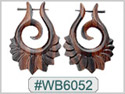 #WB6052 - Wooden Tribal Earring