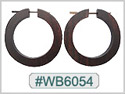 #WB6054 - Wooden Tribal Earring