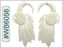 #WB6056 -  Buffalo Bone Carved Dream Catcher