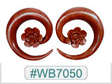 WB7050, Sabo Wood Spiral Flower