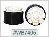 WB7405 Carved Flower, Bone and Horn Plugs