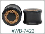 WB7422, Iron Wood with Coconut Inlay Plugs