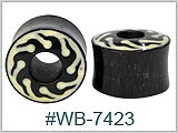 WB7423, Iron Wood Flame Design Tunnels with Inlay