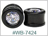 WB7424, Iron Wood Plugs with Gem