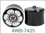 WB7425, Iron Wood Plugs with Mother-of-Pearl Inlay