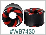 WB7430, Red and Black Swirl Tunnels