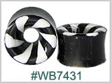 WB7431, Black and White Swirl Tunnels