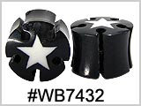 WB7432, White Star Keyhole Cut Plugs