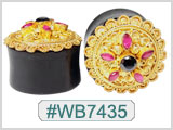 WB7435 Horn with Round Bali Shield THUMBNAIL