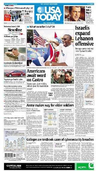 08/02/2006 Issue of USA TODAY MAIN