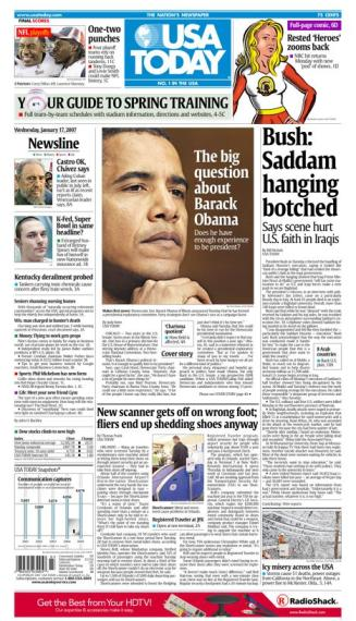 1/17/2007 Issue of USA TODAY MAIN