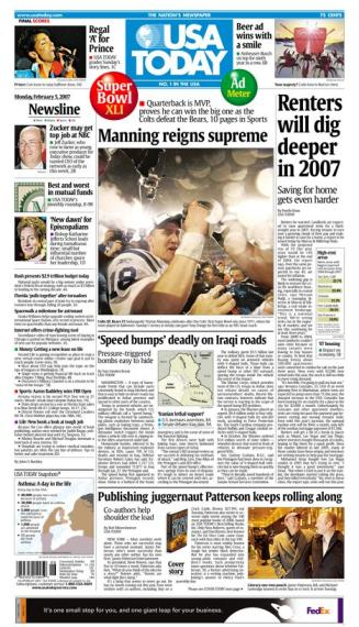 2/05/2007 Issue of USA TODAY MAIN