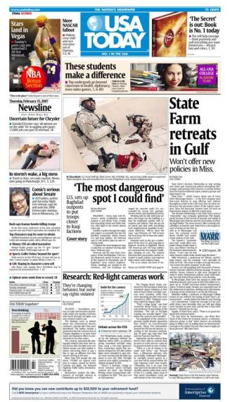2/15/2007 Issue of USA TODAY MAIN